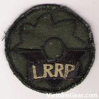 Locally made 9th Infantry LRRP subdued insignia.