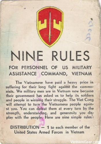 Nine Rules card