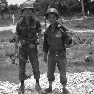 Two soldiers of the 9th ARVN Division near An Khe on QL 19 (Route 19) which ran from Qui Nhon to Pleiku.