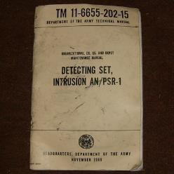 TM 11-6655-202-15 Manual: PSR-1 Intrusion Detecting Set
