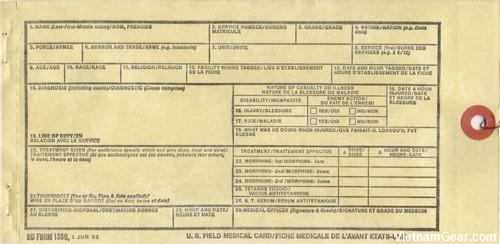 WIA Field Medical Card