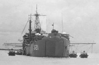 Landing Ship Tanks (LST) were used to transport PBRs to patrol areas and served as floating bases, refuelling and rearming riverine craft and Seawolf helicopter gunships.