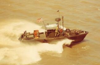 A River Patrol Boat (PBR) 31 Mk II operated by the 458th Trans.