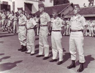 MAAG advisors after receiving medals for valor at the battle of Ap Bac on 2nd January 1963.
