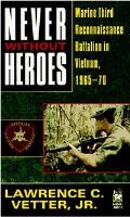 Never Without Heroes by Lawrence C. Vetter, JR.