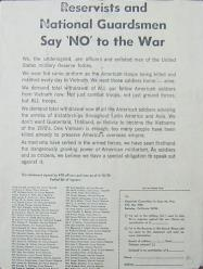 Reservists and National Guardsmen Leaflet