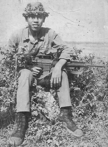 An ARVN soldier wearing a pair of indigenous combat boots.