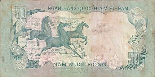 Back of a 50 South Vietnam Dong.