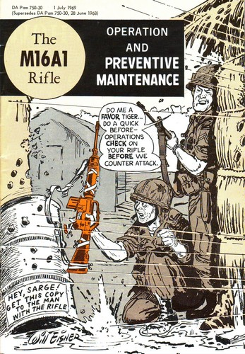 Front cover of the 1969 M16A1 Rifle Care and Preventive Maintenance manual.