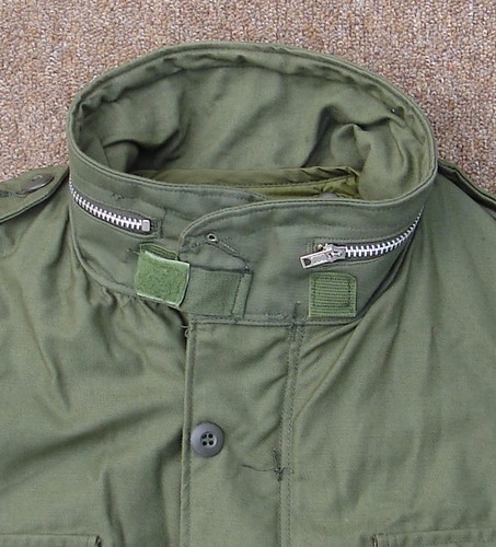 The M1965 Field Coat boasted a Velcro collar fastener.