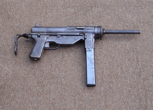 The M3A1 had a telescopic stock for ease of handling.