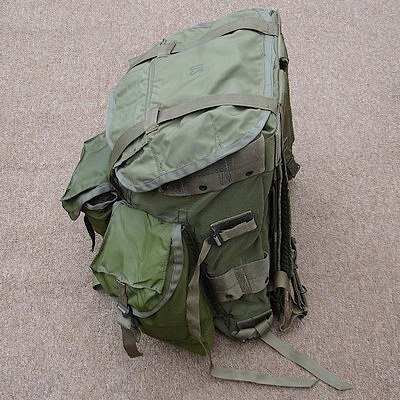 The Tropical Rucksack had straps on the side for attaching equipment.