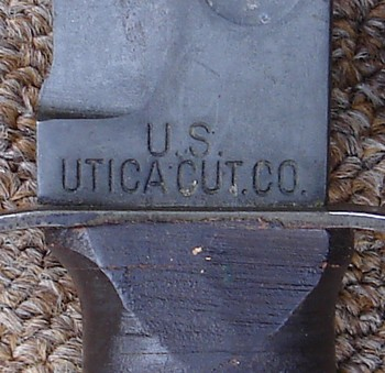 The Marine Corps Ka-Bar knife was made by a number of manufacturers, including the Utica Cutlery Company
