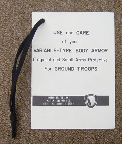 Variable Body Armor Manual.