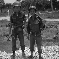 Two soldiers of the 9th ARVN Division
