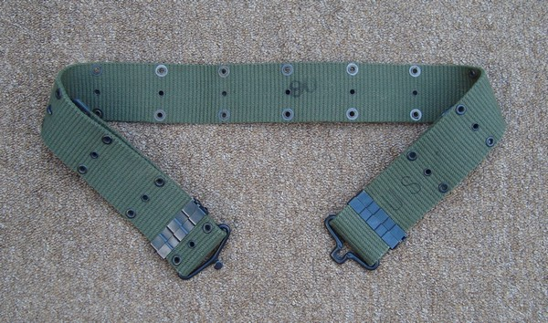 1962 contract dated M1956 Belt made from vertical weave cotton webbing.